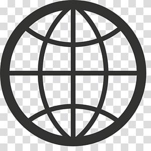 logo globe noir, icônes d'ordinateur Navigateur Web graphiques évolutifs, icône Internet gratuit de haute qualité pour le site png