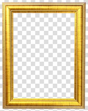 cadre au point de croix, cadre doré, cadre rectangulaire jaune png