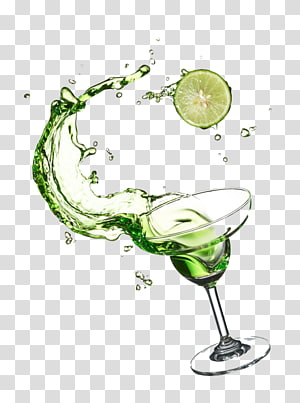 Verre à martini transparent avec liquide vert, Cocktail Martini Vodka Boisson distillée au Mojito, Cocktail élégant png