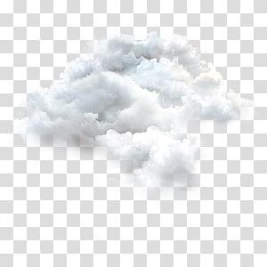 ciel nuageux, montgolfière White Cloud, nuages png