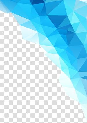 glace bleue, Abstraction, graphiques abstraits bleus png
