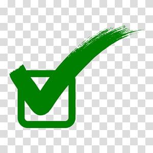 Case à cocher, vert correct signe, icône de la case à cocher png