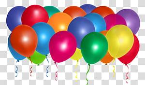 Balloon Birthday, Balloons Bunch, illustration de lot de ballons de couleurs assorties png