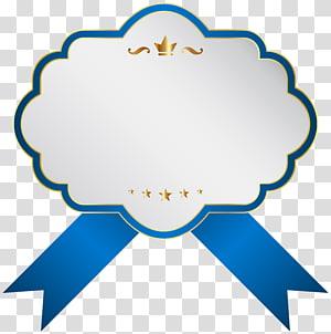 illustration de ruban blanc et bleu, icône de l'étiquette, étiquette blanche bleue png