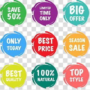 Étiquette de prix de vente autocollant, cartes de prix de vente saisonniers, neuf tour png