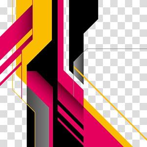 Forme géométrique Art abstrait, formes abstraites, multicolore png