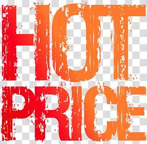 texte de prix chaud orange et rouge,, timbre de prix chaud png