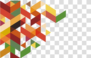 Forme polygone, quadrilatère triangle symbole abstrait, pixel art graphique png