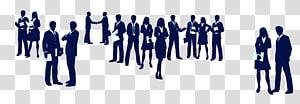illustration de groupe de personnes, marketing des médias sociaux, promotion du marketing numérique, silhouettes de gens d'affaires png