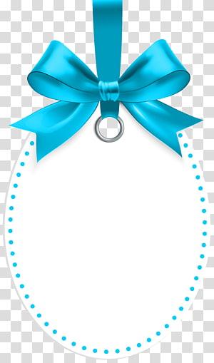 illustration de ruban bleu, cadeau, étiquette avec le modèle arc bleu png
