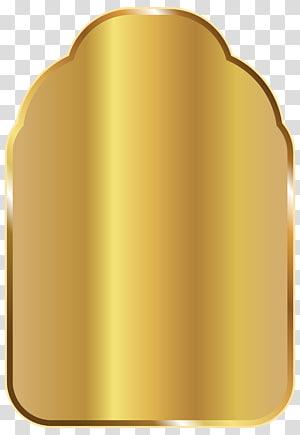 illustration brune carrée, icône, modèle d'étiquette d'or png