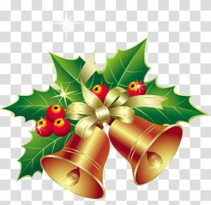 Cloches De Noël: Un Roman Un Chant De Noël J'ai Entendu Les Cloches Le Jour De Noël, Cloches De Noël Avec Ornement De Gui, Sticker Cloche De Noël png
