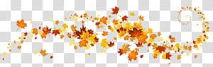 Couleur des feuilles d'automne, décoration de feuilles d'automne, cadre de feuilles d'érable jaune et rouge png