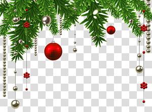 Décoration de Noël Ornement de Noël Arbre de Noël, décoration de boule de Noël suspendue, illustration de boule noire et argent png