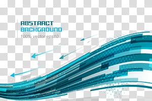 Ligne de courbe bleue euclidienne, fond de technologie, fond abstrait png