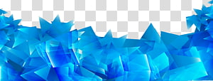 Géométrie bleue, fond abstrait abstrait bleu avec prisme irrégulier, cristal bleu png