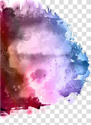 éclaboussures art graphique, peinture aquarelle Encre Splash, peinture aquarelle png
