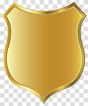 Bouclier d'or, Modèle d'insigne en or png