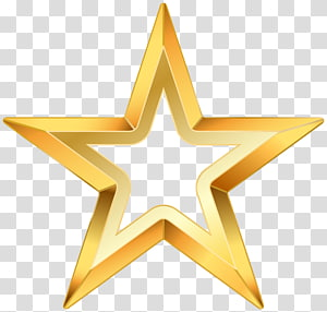 Étoile, étoile dorée, étoile jaune, illustration png