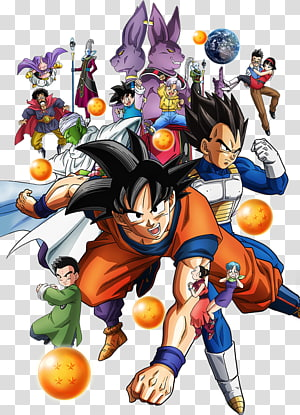 Illustration de Super Dragonball Z, héros de la boule de dragon Goku Beerus Majin Buu Videl, boule de dragon Super HD png