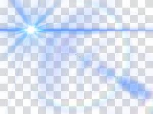 Triangle de lumière bleu ciel, effet de lueur de lentille bleue png