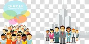illustration de communication personnes, Illustration de personnes Concept, hommes d'affaires plat png