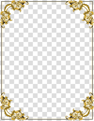 illustration de pensionnaire floral or, cadre, cadre frontière or png