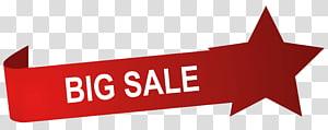 ruban rouge grande vente, grande étiquette de vente png