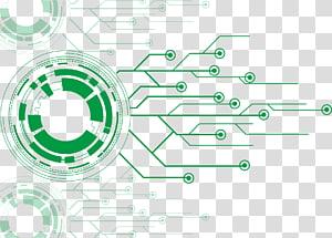 Circuit imprimé Fichier électronique, circuit de robot, diagramme vert png