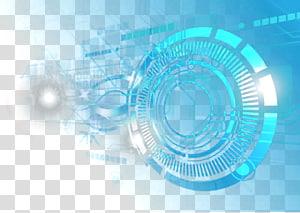 Light Aperture Lens flare, ouverture des effets, illustration ronde bleue png