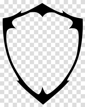 illustration de dessin forme de bouclier noir, bouclier, logo de bouclier blanc png