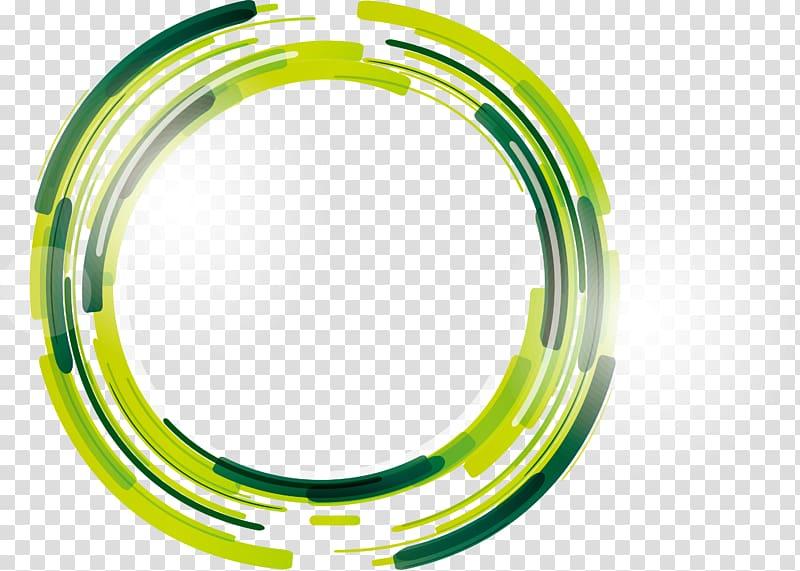 illustration verte, cercle, cercle de science fiction verte png