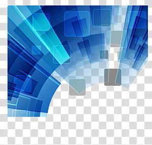 fond géométrique bleu, bleu et blanc png