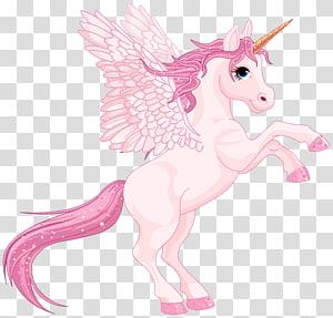 illustration de la licorne rose, fichier informatique Licorne pour iPhone 6 Plus, Pegasus rose mignon png