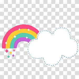 Rainbow Cloud format de fichier Document Cartoon, nuages mignons Cartoon, arc-en-ciel et nuage png