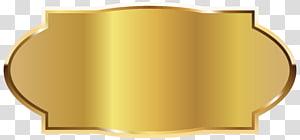 illustration d'or ovale, mise en page d'étiquette, modèle d'étiquette d'or png
