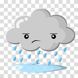 pleuvoir art nuage, nuage de pluie, soleil gris s png
