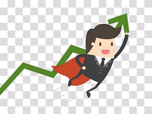 homme d'affaires avec graphique linéaire, Businessperson Small Business Company Marketing, travail superman png
