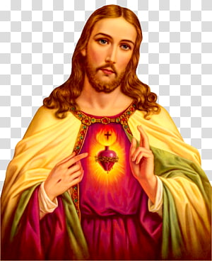 Illustration graphique Cœur de Jésus-Christ, dévotion catholique de Jésus Sacré-Cœur Neuvaine, Jésus-Christ png