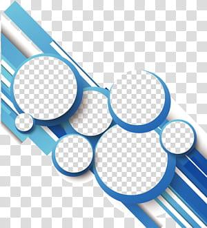 Ligne de géométrie de cercle, cercle de lignes géométriques abstraites bleues, blanc, gris et bleu png