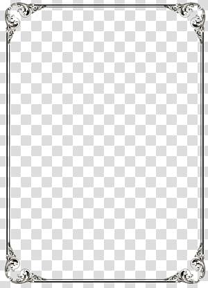 Modèle Microsoft Word, fichier de cadre de bordure noire, cadre noir png