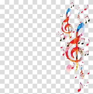 Note de musique, musique de fond, notes de fond, peinture de la clef de sol png