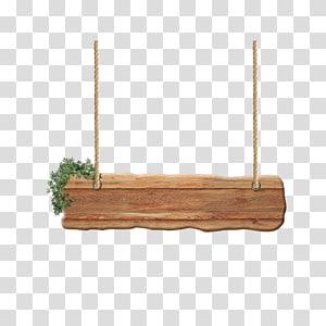 Fichier informatique en bois, panneau suspendu, gabarit en bois png