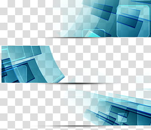 bleu et noir, bannière Web graphique, bannière Science et technologie png