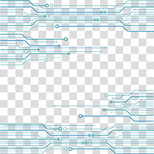 Réseau électrique Euclidien de technologie, fond de texture de puce de circuit gratuit, illustration de circuit bleu png