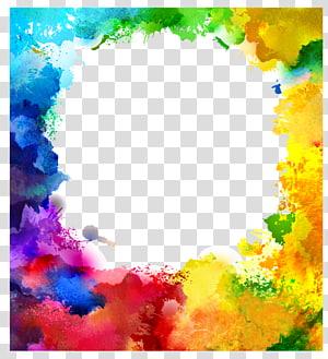 Illustration de peinture à l'aquarelle Art Illustration, aquarelle Splash, cadre de filtre de couleur arc-en-ciel png