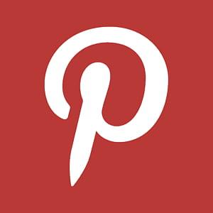 ordinateur de conception graphique de marque de commerce texte, Pinterest, logo lettre P blanc et rouge png