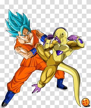 Gold Freeza et Super Saiyan Blue Goku, Goku Frieza Gohan Vegeta Beerus, Dragon Ball Super Free png