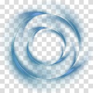 tourbillon de poussière, élément d'effet de cercle bleu fantaisie png