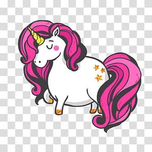 licorne blanche et rose, dessin de licorne, licorne png